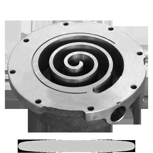 涡旋压缩机--静涡旋盘去毛刺